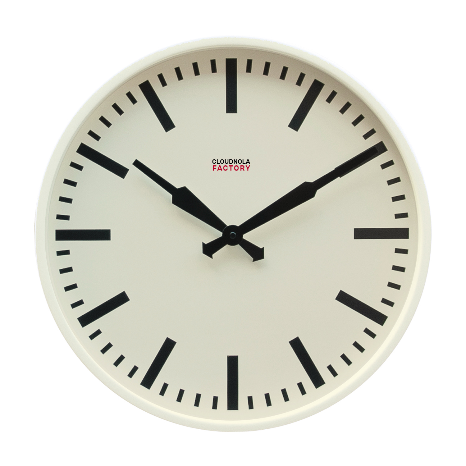 Cloudnola Factory Railway clock 45 cm White Stripe